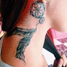 Dream Catcher Tattoo Behind Ear 100 Small Dreamcatcher Tattoo Placement Ideas Small Dreamcatcher 36