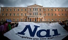 Risultati immagini per greci in piazza per il sì