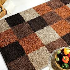 black and orange rug these gy rugs with a block design in contrasting shades of brown black and orange rug