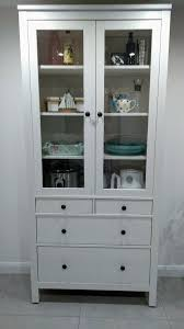 ikea hemnes glass door cabinet with drawers in white