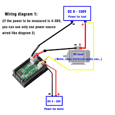 dsn vc288 wiring dsn image wiring diagram new dc 100v 10a voltmeter ammeter blue red led amp dual digital on dsn vc288 wiring