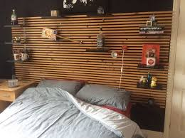 shelves wall mounted bed headboard innovational ideas ikea slatted headboard rethink it 4 ways to use ikea mandal that