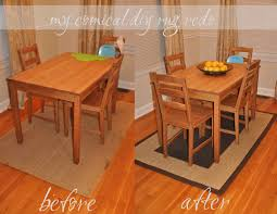 kitchens placement of area rug under dining room ideas