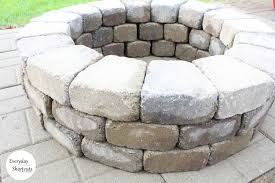 to build a fire pit on a paver patio
