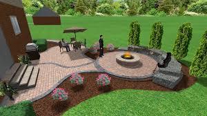 backyard patio ideas with fire pit allfind