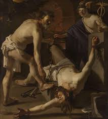 CRUEL PUNISHMENT - PROMETHEUS BEING CHAINED BY ...