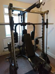 nautilus olympic smith machine and multi gym with weights