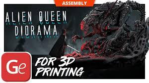 Alien <b>Queen</b> 3D <b>Printing</b> Figurine in Diorama   Assembly by Gambody