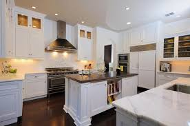 Kitchen : Impressive White Shaker Kitchen Cabinets With Black ...