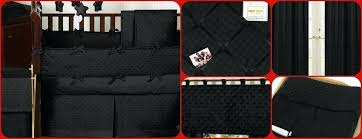 solid black dot and micro suede baby crib bedding minky heavenly soft