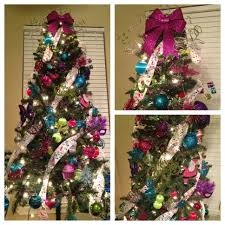 Girly Christmas Tree full of pink, green, blue & purple! A little girl's