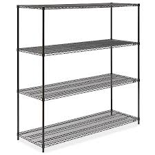 amazing black wire shelving unit 72 x 24 h 1752 uline lowe wall mount part with