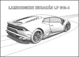 lamborghini huracan coloring pages side view coloring4free