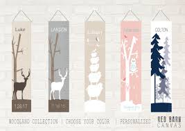 Woodland Growth Chart Woodlands Theme Growth Charts