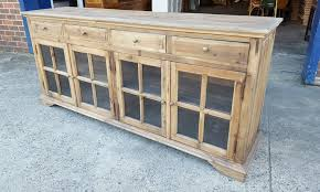build glass front buffet sideboard