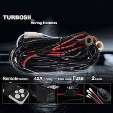 off road led light bar wireless remote wiring harness kit 12v 40 amp painless off road wiring harness image is loading off road led light bar wireless remote wiring