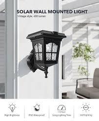 vintage design solar wall light 400