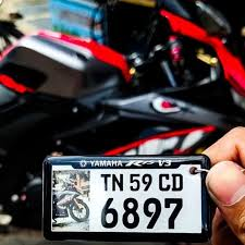 personalized number plate keychain