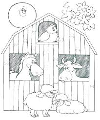 Farm Animals Coloring Activity Printable Free Printable Farm Animal
