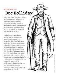 John Henry Doc Holliday Coloring Page