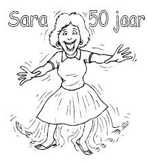 Kleurplaat 50 Jaar Sarah Opa En Oma Kleurplaten Sara 50 Jaar