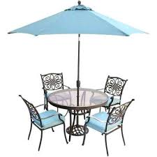 patio dining with umbrella traditions 5 piece aluminum outdoor dining set with round glass top table patio dining with umbrella catchy patio furniture