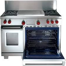 wolf double oven. 48 Inch Gas Range Double Oven V7865 Wolf Front View Stainless Steel With Red Knobs M