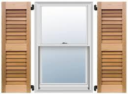 cedar shutters even louver
