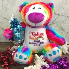 Rainbow Bear For Baby New Baby Gift Bridal Bling