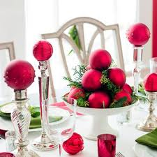 red christmas table decorations. Elegant Christmas Table Decorations Red N