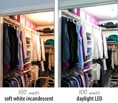 led closet lighting look at the difference a can make in your clothes closet best led led closet lighting