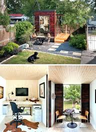 detached home office. Detached Home Office Taxes Tucked Into The Back Corner Of This Backyard Sits A Small Studio