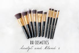 bh cosmetics sculpt and blend 2 10 piece brush set review