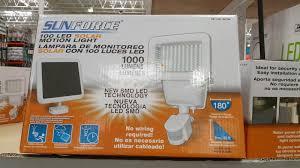 sunforce 100 led solar motion security light for the outside