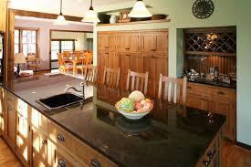 Quarter Sawn Oak Kitchen Cabinets Kitchen  Traditional With Black Slate Countertops Oak | Beeyoutifullife.com