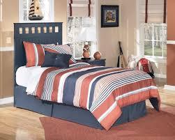 Ashley Furniture Leo Blue Twin Headboard With Bed Frame