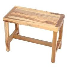 benches wood shower bench teak chairs stools accessories the home depot classic in plans wood shower
