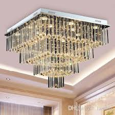 high end luxury led crystal ceiling chandeliers modern creative square chandelier light pendent lamps for living room villa hotel home hall