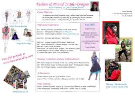 How To Make A Fashion Resume Free Resume Example And Writing