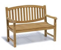 ascot teak 2 seater garden bench 1 2m