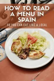 spain dining guide spanish menu