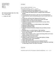 Visual Merchandiser Resume Sample Velvet Jobs Garment Seven Sevte