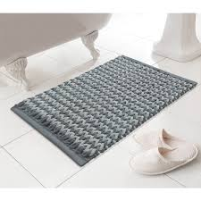 cream and charcoal bathroom mat