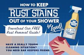 our easy to follow guide on how to clean rust stains from the shower