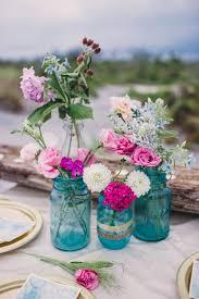 Blue Mason Jars Wedding Decor 100 Amazing Beach Wedding Centerpieces Mason jar vases Beach 20