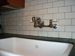 Vintage Wall Mount Kitchen Faucet Cross Handles Kitchen Faucets