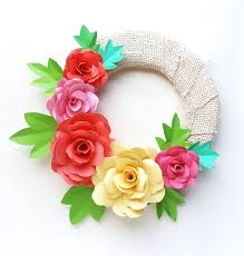 Flower Made In Paper Diy Paper Roses And A Cool Paper Flower Spring Wreath