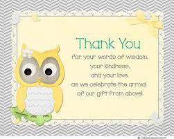 Girl Owl Thank You Cards  Cute Bright Shower U0026 BirthdayOwl Baby Shower Thank You Cards