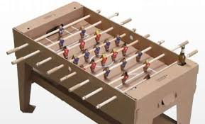 Miniature Wooden Foosball Table Game Recyclable Ball Games Kartoni Foosball Table 77