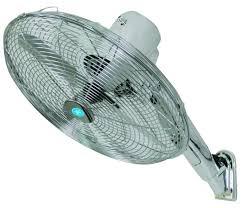 eh1574 16 chrome wall mounted fan has adjule head angle